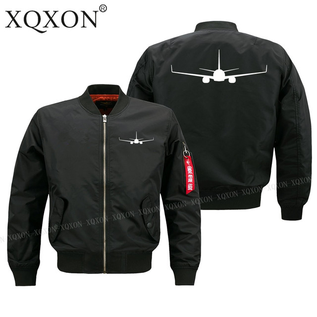XQXON-2019 new High quality aircraft plane BOEING 737-800 design man Coats Jackets hot sale men pilot jacket (Customizable) J59