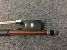 Brazilwood violin bow. Silver wire winding. Pisces eye inlay violin bow #1202