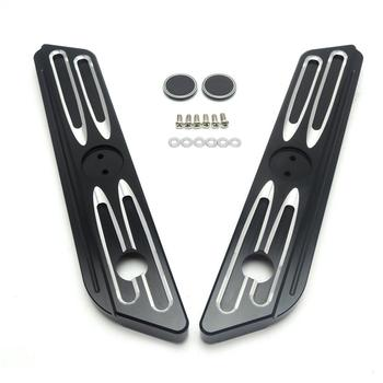 Burst Drive Contrast Saddlebag Latch Covers For Harley Street Glide Road King 2014-2016 Parts