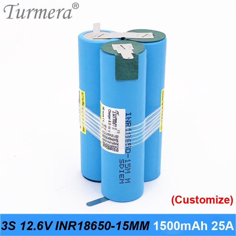Oryginalna bateria 18650 15 M inr18650-15MM 1500 mah 25A 10.8 v 12.6 v bateria 18650 pack dla śrubokręt narzędzie baterii dostosowane opakowanie