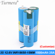 original battery 18650 15M inr18650-15MM 1500mah 25A 10.8v 12.6v battery 18650 pack for screwdriver tool battery customized pack original electronic cigarette 240w vaptio n1 pro tc box mod vaping mod support vw 18650 battery fits 510 thread tank atomizer