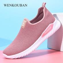 Women Summer Sneakers Fashion Sock Shoes Female Vulcanized Shoes Casual Slip On Flats Ladies Trainers Tenis Feminino 2019