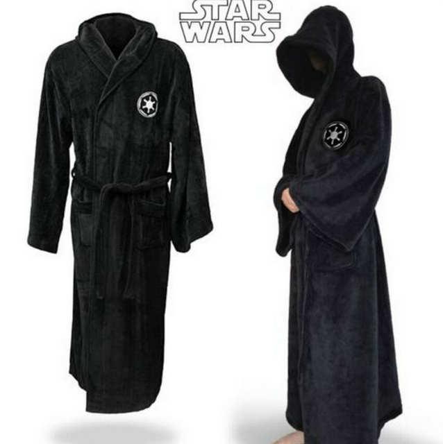 placeholder Star Wars Adult Brown Jedi Black Sith Robe Men Bathrobe Cape Cloak  Costume 7b8e98ba3