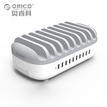 ORICO powerbus зарядная станция 10 Порты 120 Вт 5V2. 4A * 10 USB Зарядное устройство Dock с держатель для телефона Tablette PC Применить для дома общественных