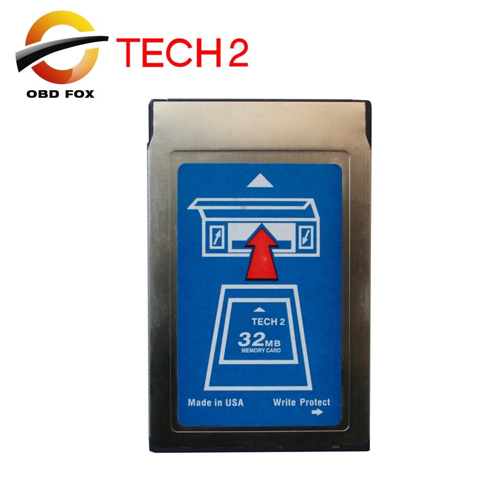 Prix pour 2017 nouveau Tech2 32 MB Pcmcia Carte Mémoire avec 6 types de logiciels et Vide Carte Chaude 32 MB carte livraison gratuite