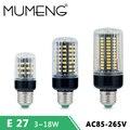 MUMENG E27 E14 LED Light Bulb SMD5738 Corn Bulb Smart IC Lamparas AC85-265V Spotlight Anti-Strobe Bombillas For Chandelier