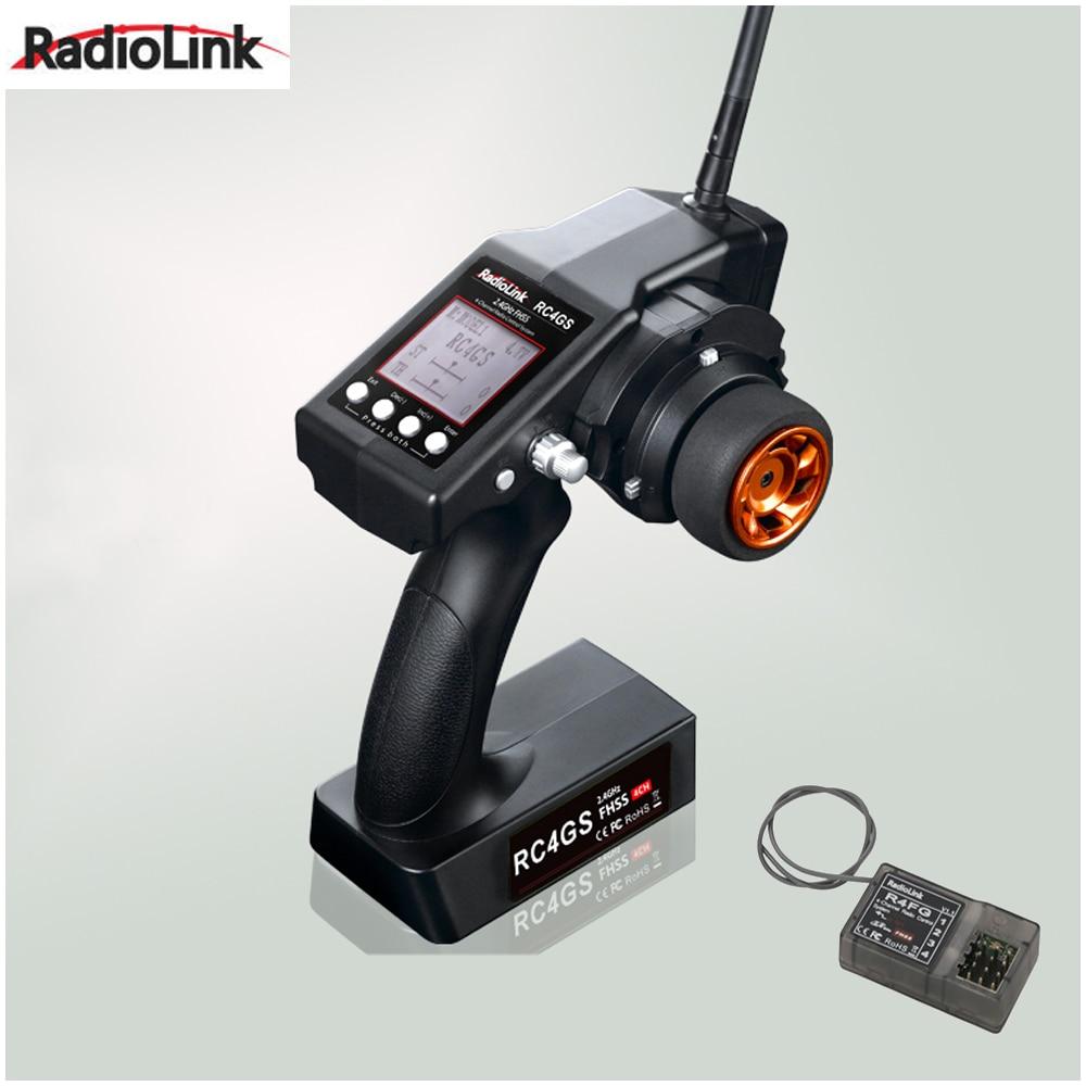 RadioLink  RC4GS 2.4G 4CH Car Controller Transmitter + R4FG-G Gyro Inside Receiver for RC Car Boat (400m Distance)