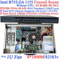 1u server without CPU with Intel PCI-E 1000M 6*82583v Lan support ROS Mikrotik PFSense Wayos intelliegent flowcrl 1G RAM 4G SLC