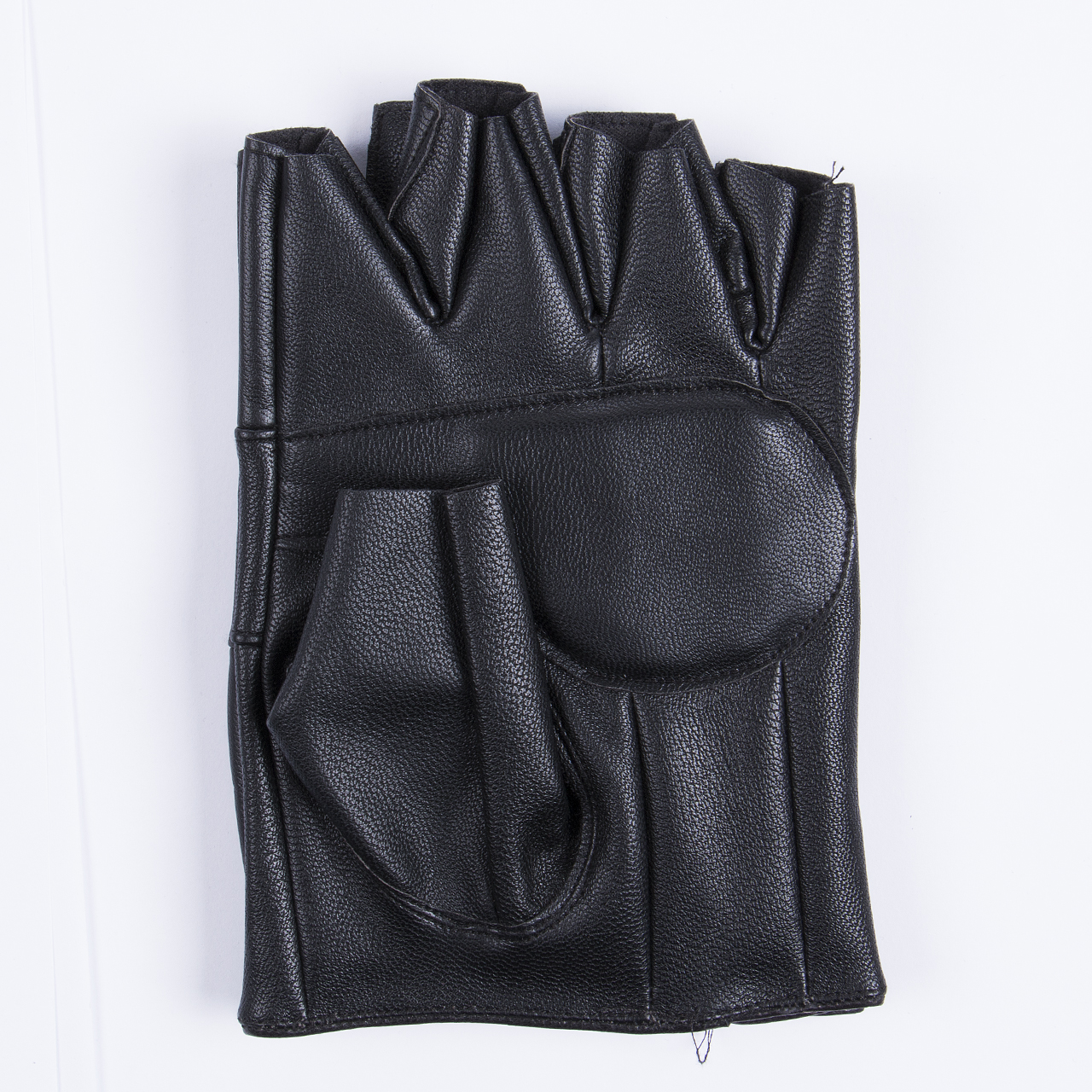 Mens gloves use iphone - Men S Pu Leather Gloves Half Finger Fingerless Gloves Climbing Bicycle Anti Skid Fitness Workout Gym Gloves
