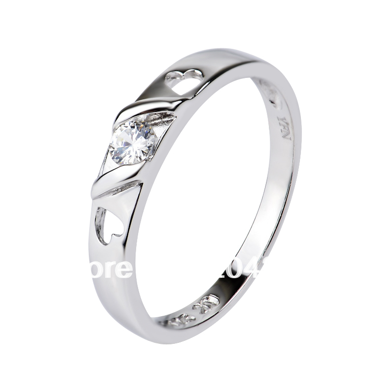 GNJ0464 NEW promotion 1pc Free shipping 925 Sterling silver Micro pave CZ crystal Lovers ring Fashion