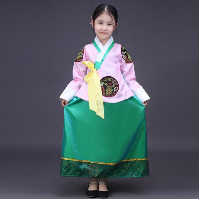Nueva Corea del Sur niñas corte tradicional hanbok trajes nacional ...