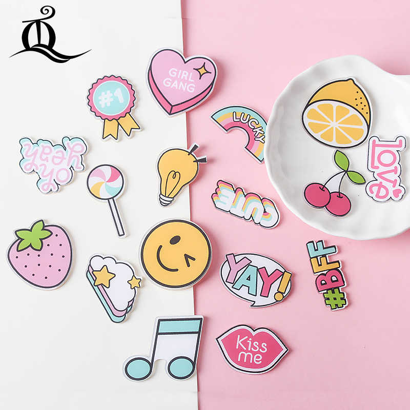 Hot 1 PCS Candy regenbogen cartoon brosche Mix Icons Auf rucksack Acryl Abzeichen Cartoon Pin Abzeichen Für Kleidung Dekoration Abzeichen z74