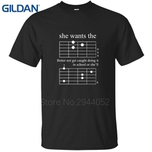 Classical tee shirt Round Collar jersey Arrival Shop F Chord Dad Guitar Musician 2017 black cotton simple homme t shirts