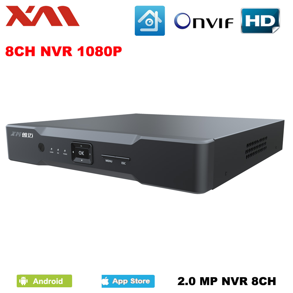 XM Mini NVR Full HD 8 Channel Security CCTV NVR 1080P 8CH ONVIF 2.0 For IP Camera System 1080P With Radiator рубашки футболки для детей