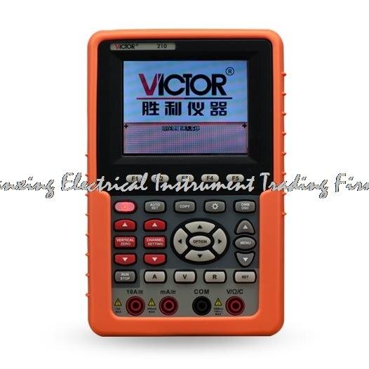 Arrivée rapide VICTOR 210 Oscilloscope Portable multimètre numérique Osciloscopio 20 MHz canal logique analyseur USB