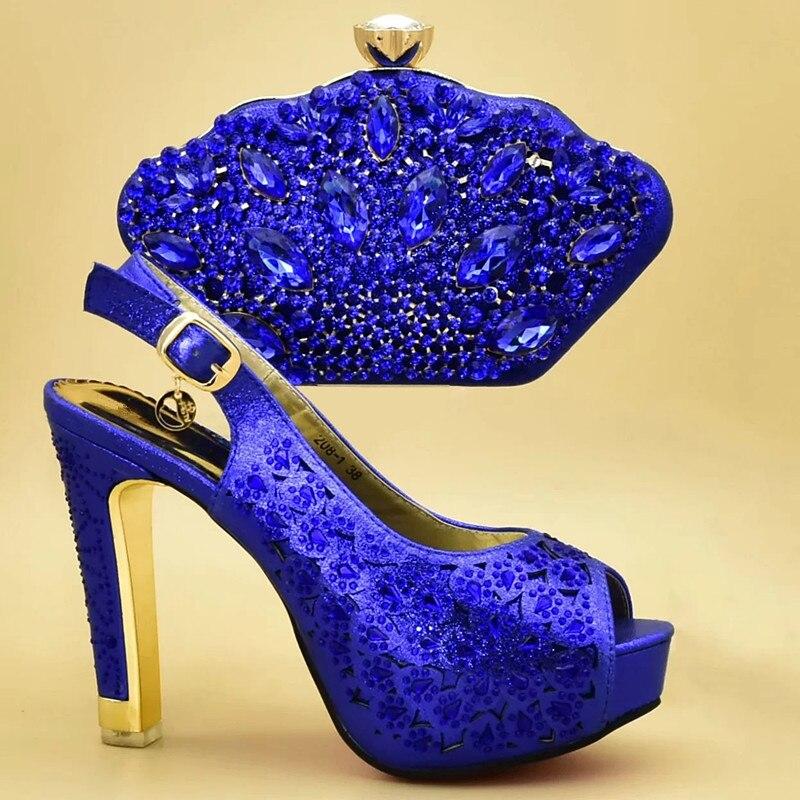 Apliques vino A oro Azul De Zapatos Y Mujeres Decorado Tinto Encuentro Bolsos Italiano Alto Italia Bolso rosado Tacón Con Bombas 8CgSw