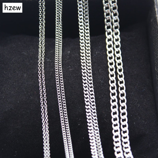 fashion small trendy for necklace item stainless new women wholesale hzew chains tiny chain men steel