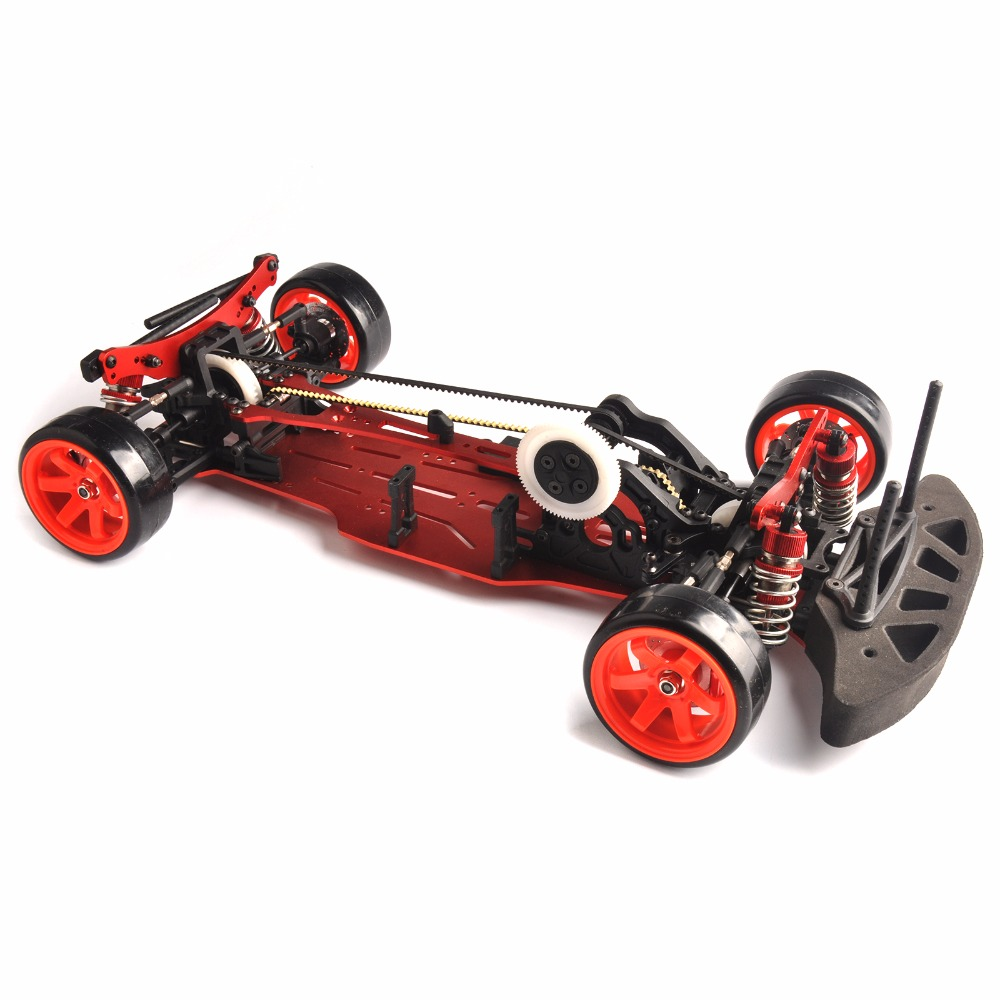 1/10 Scale Assembly Red Car Frame Kit aluminum Alloy & Carbon Fiber ...