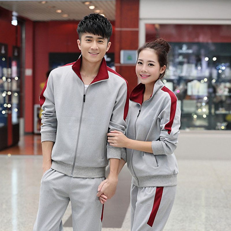 2017 new couples running set students loaded spring and autumn sportswear set men and women outdoor sports fitness jacket trouse point systems migration policy and international students flow