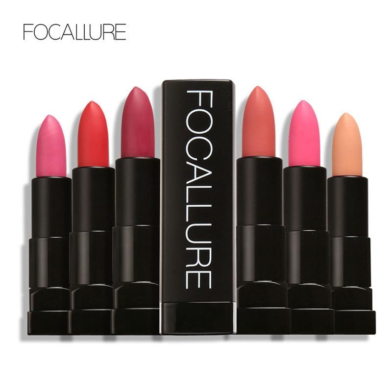FOCALLURE 12pcs/Set New Lipstick Matte Cosmetic Waterproof Long Lasting Pigment Velvet Sexy Lip Matte Nude Lipstick Kits