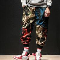 2019 Men casual spring streetwear pants new camouflage baggy little leg overalls youth corset harems joggers sweatpants