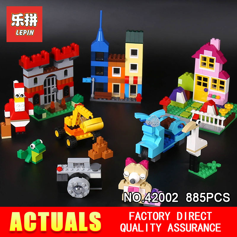 Lepin 42002 885Pcs Genuine Creative Series The Big Box Builing Blocks Bricks DIY Educational Toy Model for Children Gifts 10698 степлер мебельный со скобами sparta 42002