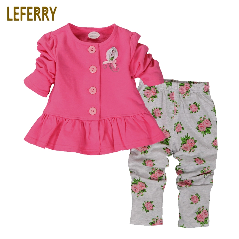 Red/Green/Purple Newborn Baby Girl Clothes Set Infant Clothing Outfit Cotton Tops + Legging Suit 2019 Autumn