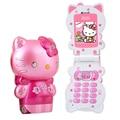 KUH K520 desbloqueado Flip encantadora LED light kids niños chica vibración lindo pequeño mini teléfono móvil celular de la historieta de hellokitty P018