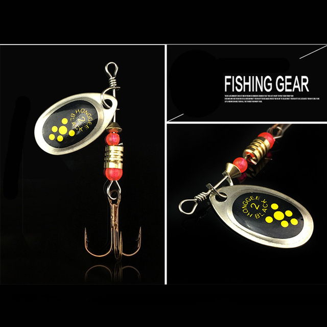 Rotating Fishing Lure Metal Bait Hooks 3 pcs Set