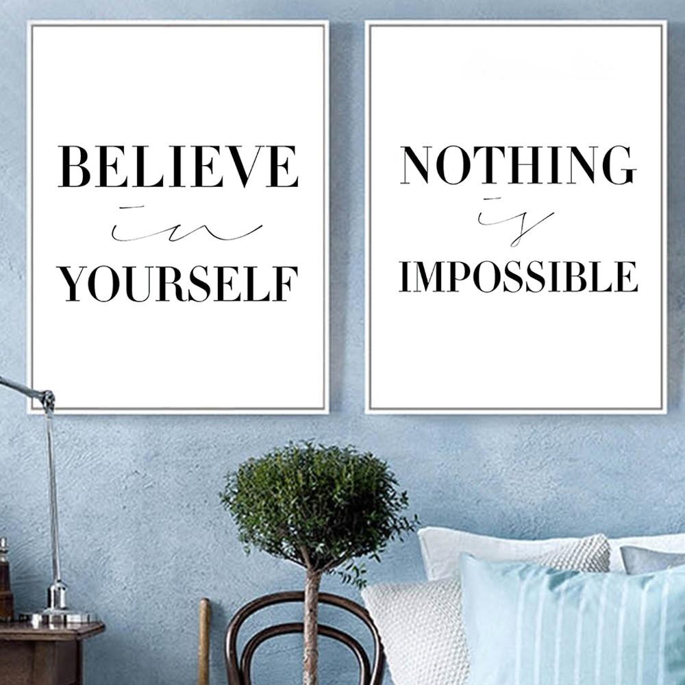 Schwarz Weiß Minimalistischen Motivation Typografie Glauben Zitate ...