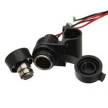 цена на For Motorcycle 22-25mm Handlebar 12V Power Socket Cigarette Lighter socket