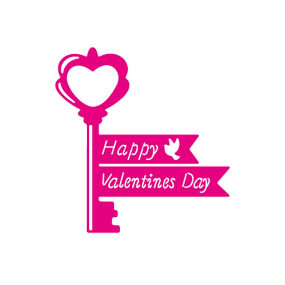 Uncategorized Valentine Stencils happy valentine day word key shape metal cutting dies stencils creative diy scrapbooking album embossing paper card craft in