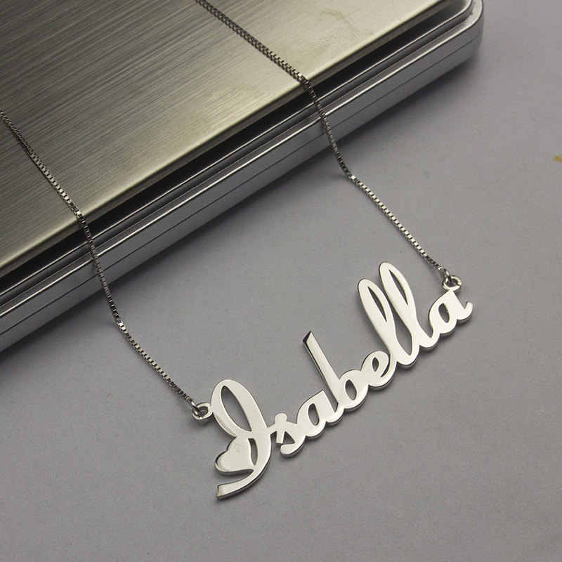 Box Chain Custom Name Necklace Personalized Jewelry Stainless Steel Namplate Pendant Necklaces For Women Men Christmas Gifts