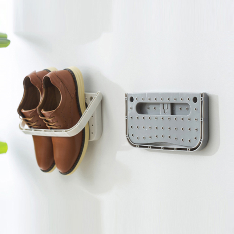 Three Dimensional and Wall Mounted Shoe Rack for Storage of Slippers High Heels and Sports Shoes 3