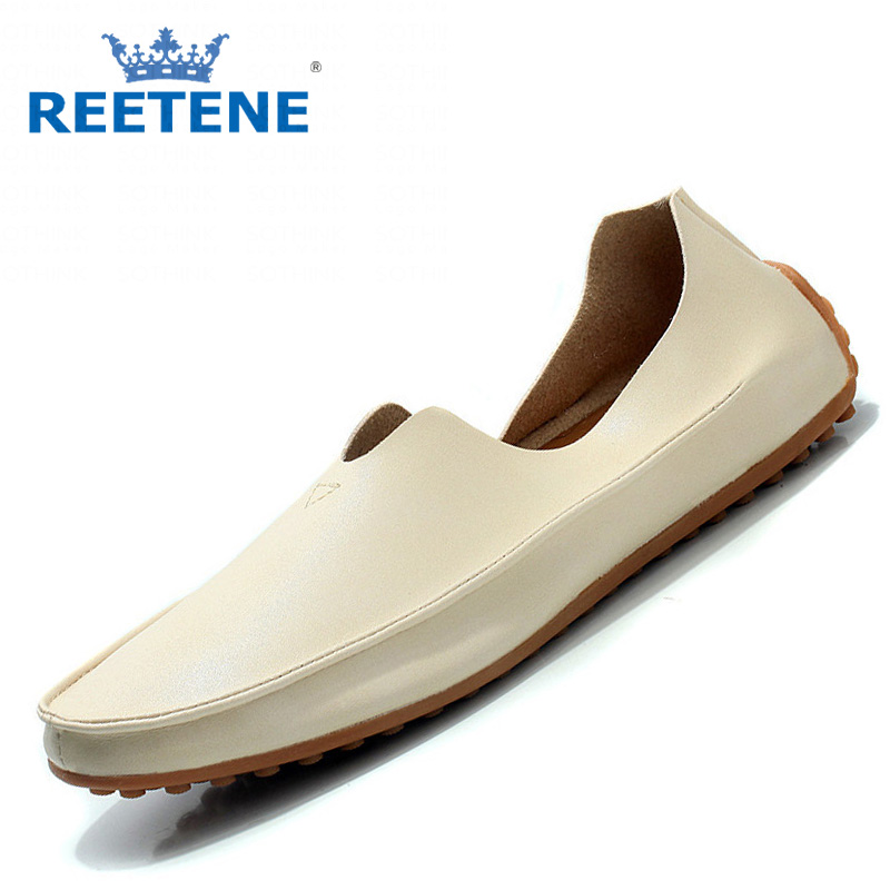Fashion Loafers Shoes Men,PU Leather Casual Men Shoes,Breathable Summer Flats 2016 New Mens Plus Size 46,47 - REETENE store