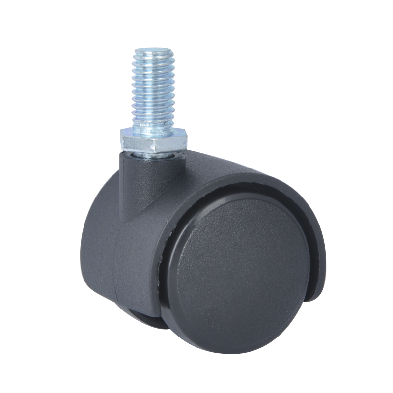 US $10 65  4PCS EDL 30mm Small Furniture Casters Wheels 15Kg Nylon Wheels  Castors Thread Screw Swivel Roller for office chair caster wheels-in  Casters