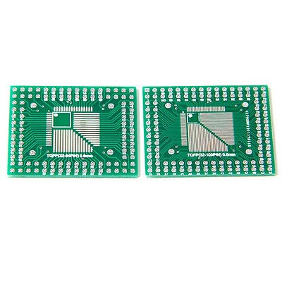 5pcs/lot FQFP TQFP 32 44 64 80 <font><b>100</b></font> LQFP to DIP Transfer Board DIP Pin Board Pitch Adapter In Stock image