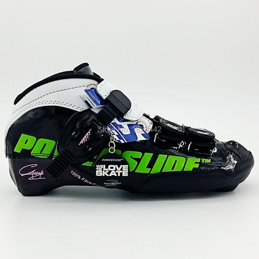 Speedskates Powerslide C6 speed skating boot inline skates font b shoes b font carbon fiber roller