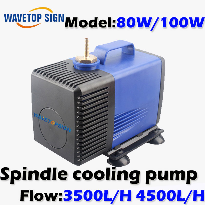cnc router water pump  80w 100w  4.5meter   lift   AC220V   spindle cooling pump 6162 63 1015 sa6d170e 6d170 engine water pump for komatsu