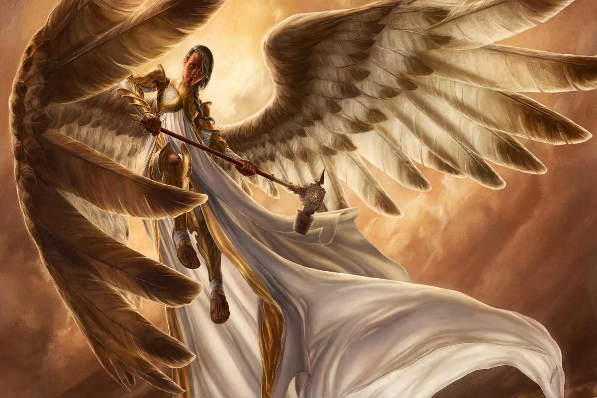 Gadis malaikat dengan sayap dan armor PJZK11 besar kain kanvas kustom poster wall decor dekorasi kamar dekorasi rumah (bingkai tersedia)