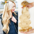Best selling bleach Blonde white color 613 Body Wave virgin hair extension 100% Brazilian human Hair weave body wavy 4 bundles