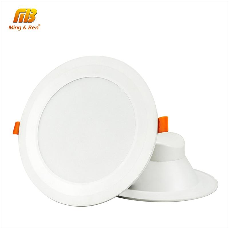 [MingBen] 2gab. LED zemgaismas lukturis 7W 15W 24W panelis Alumīnija lejupvērsts griestu lampa AC85-265V SMD5730 silts balts auksts balts diena balts