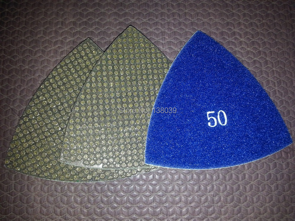 3'' Diamond Triangle Electroplated Dry Polishing Pads(4pcs) FREE SHIPPING