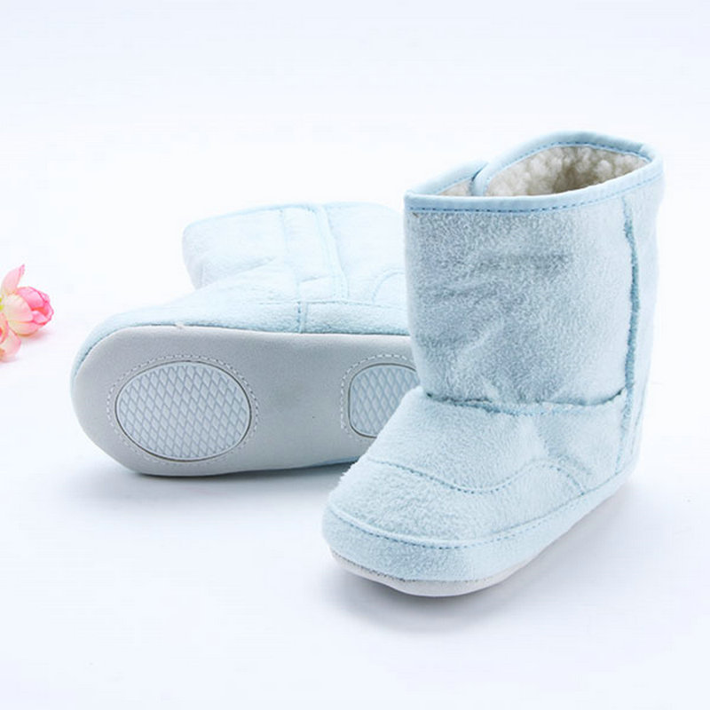 Baby Infant Toddler Crib Shoes Boys Girls Fur Winter Snow Shoes Boots 0-18M