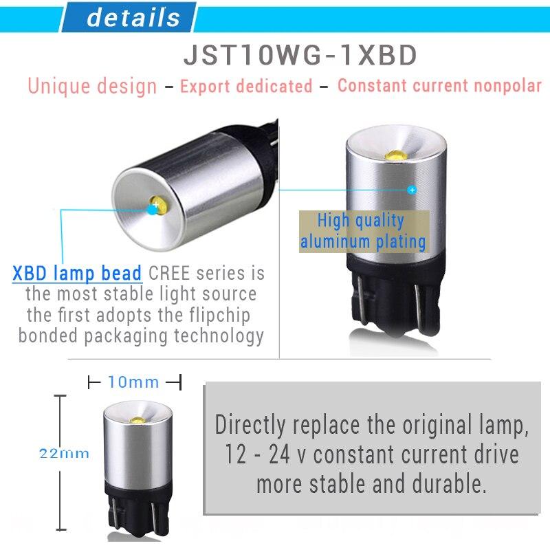 JSTOP T10 Szuper fényes lámpa kiváló minőségű automatikus - Autó világítás - Fénykép 2
