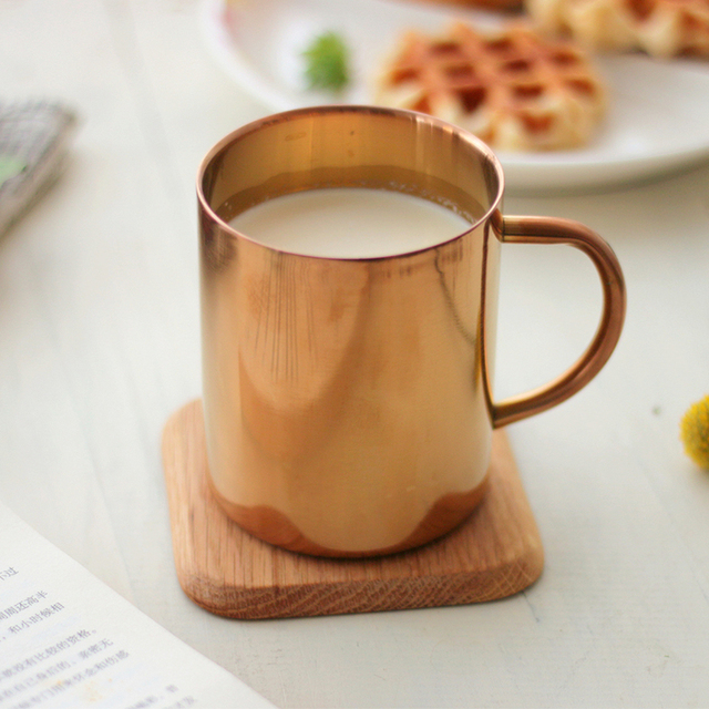 Moscow Mule 335ml Beer water Copper Mug copper facing plating  Mule Mugs  Milk Coffee Mug Cup