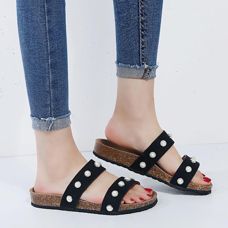 2019 New Slippers Women Summer Flat Beach Sandals Fashion