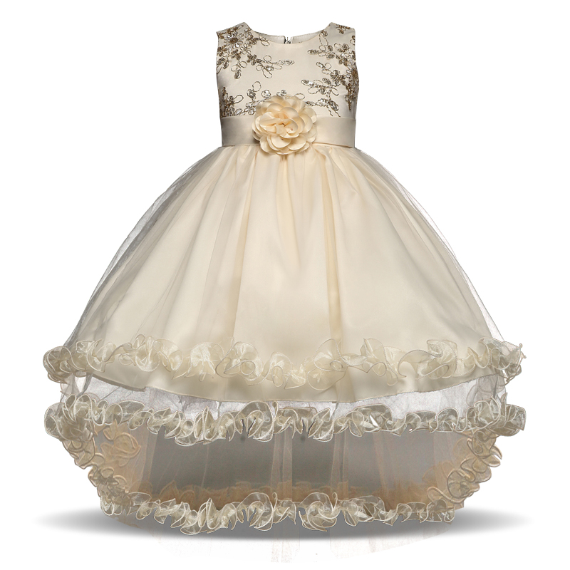 Flower girl dresses ball gown chiffon pageant dress for for Dresses to wear to a christmas wedding