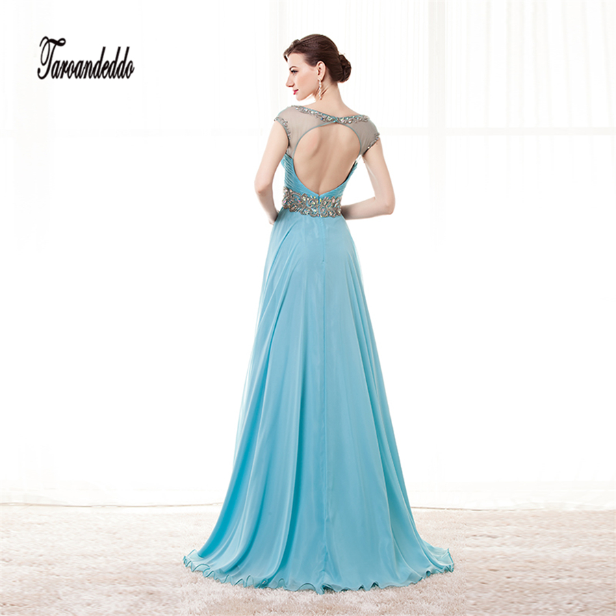 New Hot Sexy Crystal 2017 Sky Blue Backless Lace Beading Sash Prom ...