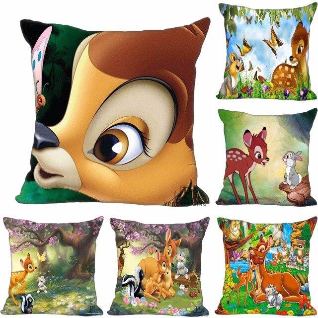 Decorativo personalizzato Federa Bambi e Faline Piazza Cerniera Copertura del Cu